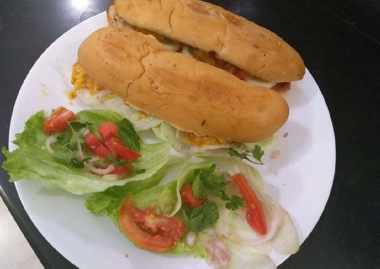 Long foot sandwich /tasty and mouth watering
