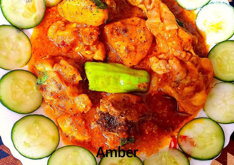 Recipe of Favorite Chicken potato salan