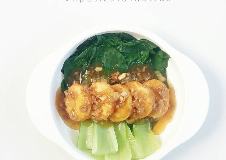 Pokcoy Siram Tofu - MPASI
