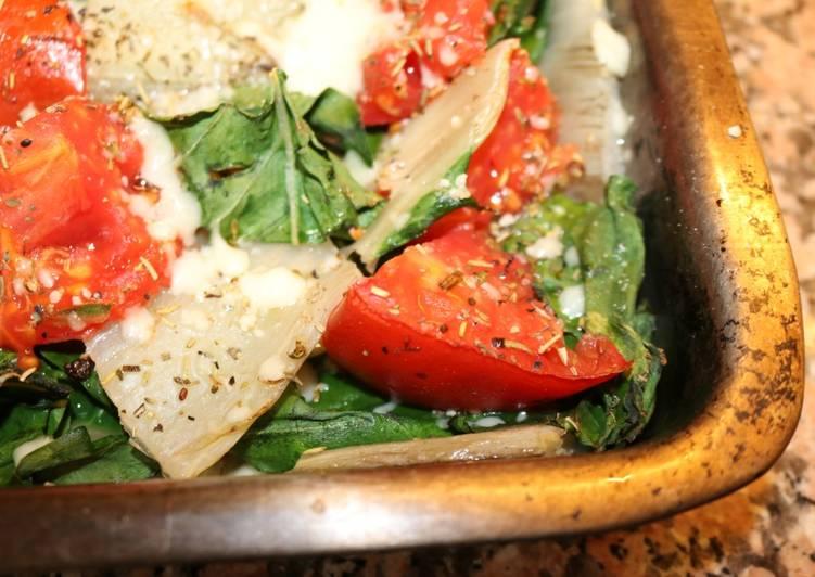 Gratin de blettes, tomates....du jardin !