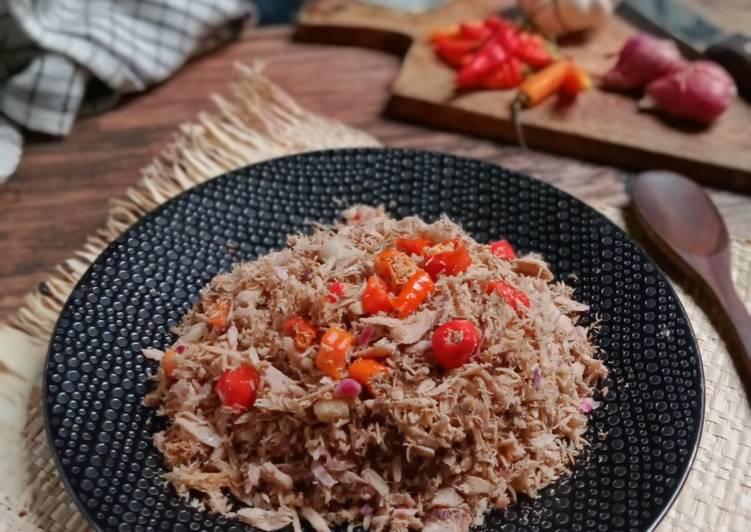 Tongkol Suwir Kecombrang pedas