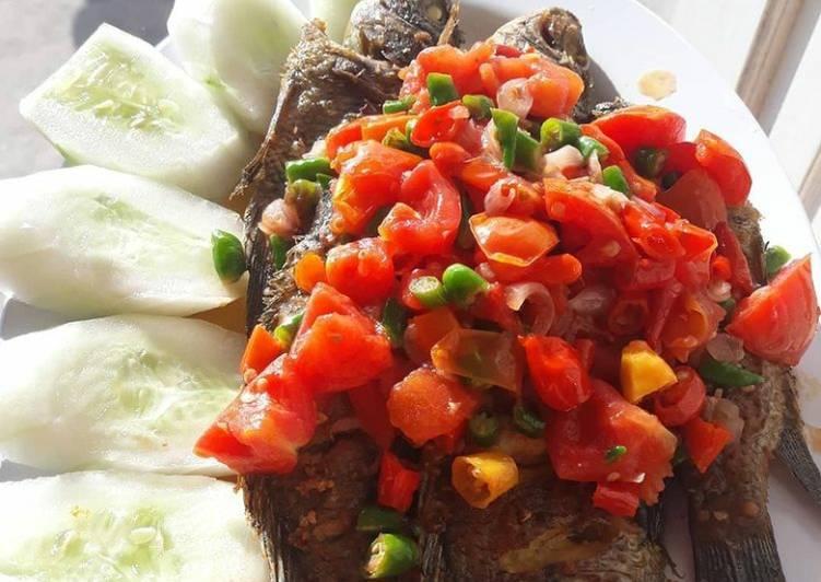 Ikan mujaer goreng sambal dabu2