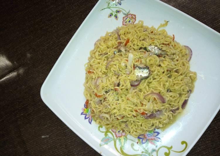 Simple Way to Make Award-winning Indomie with sardine