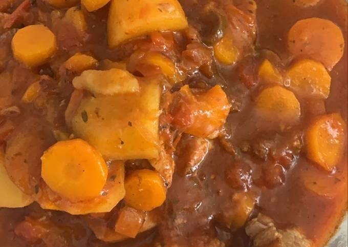 Mijoté de porc et pommes de terre au Cookeo