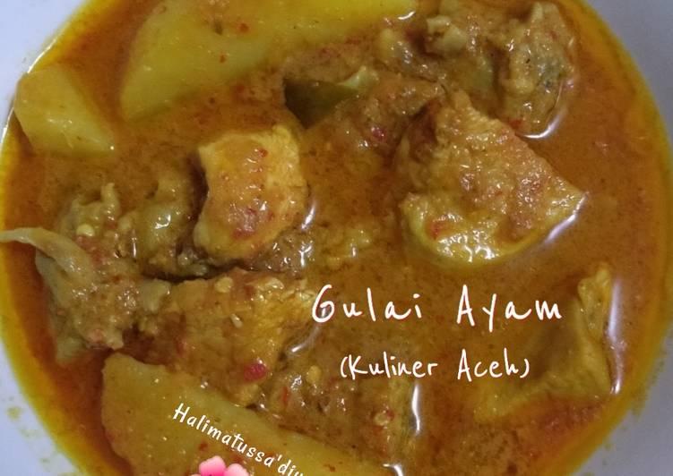 Resep Gulai Ayam (Kuliner Aceh) Anti Gagal