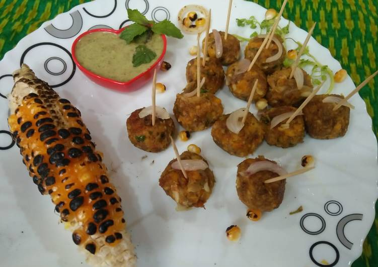 Easiest Way to Prepare Favorite Corn Pyaji balls (corn onion balls)