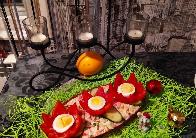 Салат с крабовыми палочками #битварецептов # ...