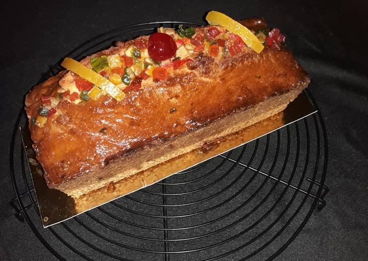 Steps to Prepare Speedy Mon cake au fruits confits