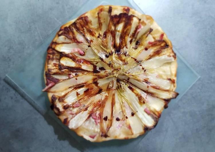 Comment Cuisiner Tarte tatin endive lardons picodon