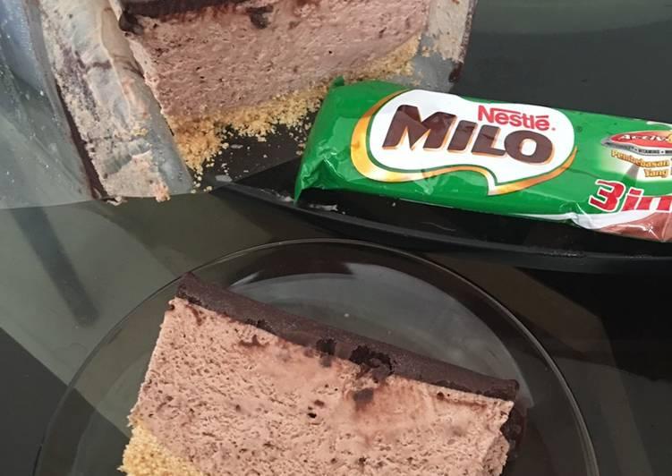 Milo ice cream cake