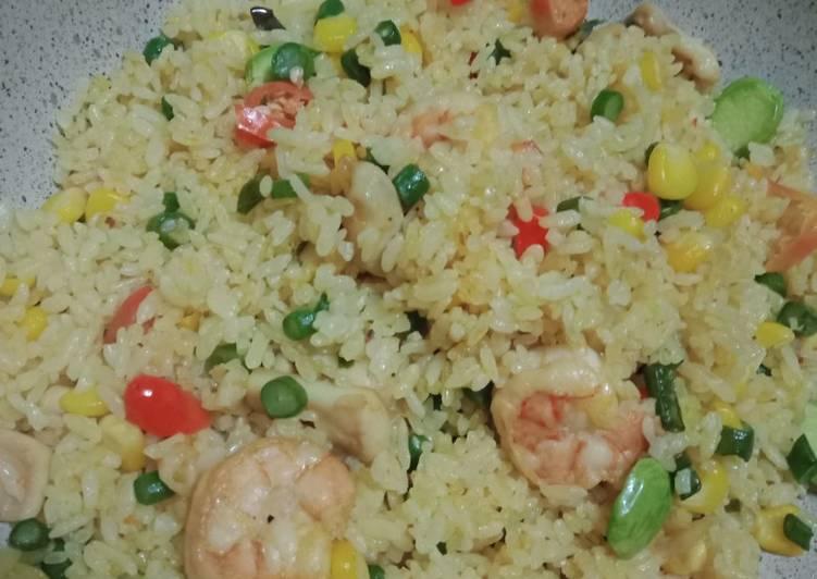 Nasi Goreng Seafood with mix Vegetables
