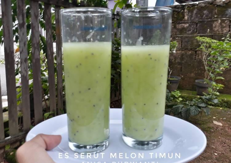 4. Es Serut Melon Timun