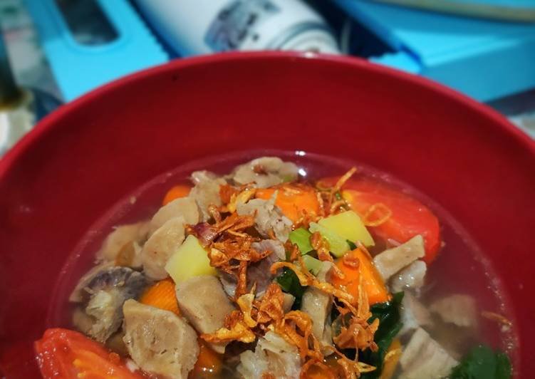 Resep Sop daging baso Yang Simple Lezat