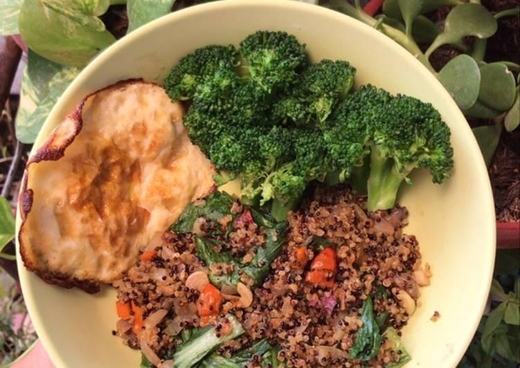 Quinoa fried rice (diet enak tetep sehat)