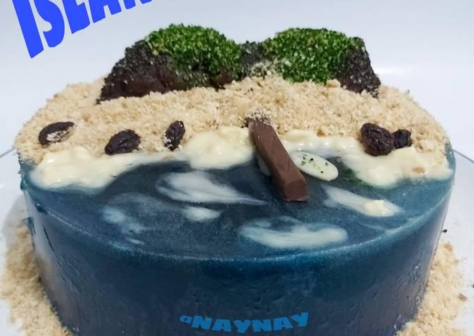 Island Cake (Tanpa Loyang Bongkar pasang dan Gelatin)