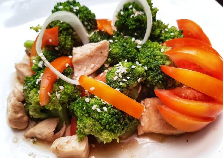 Ayam cah brokoli #15