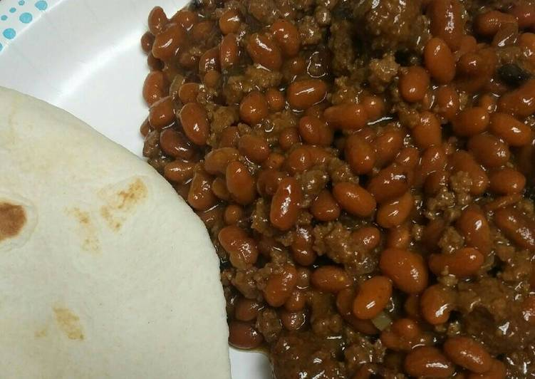 Beans and Burger with Meatballs