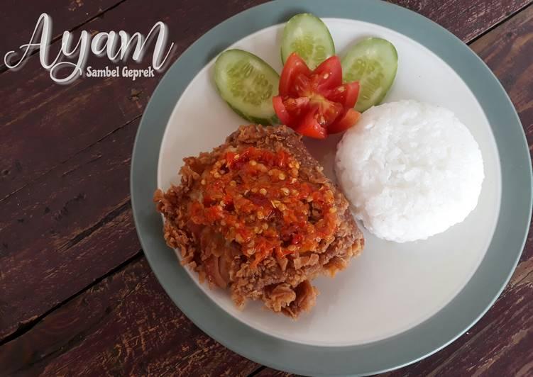 Resep Ayam sambel geprek yang Enak Banget