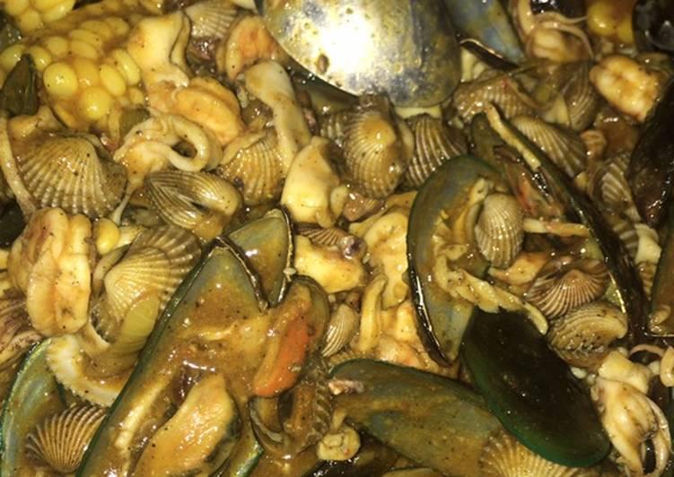 16. Seafood saos padang (hasil recook)