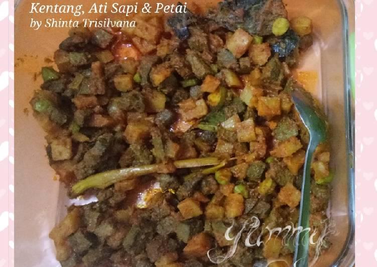 Panduan memasak Sambal Goreng Kentang, Ati Sapi dan Petai - Resep enak,mudah,simpel komplit