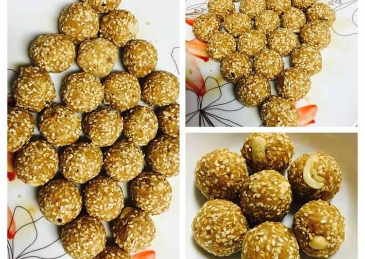 Sesame Seeds (Til) Laddoo (Makarsankranti Special)