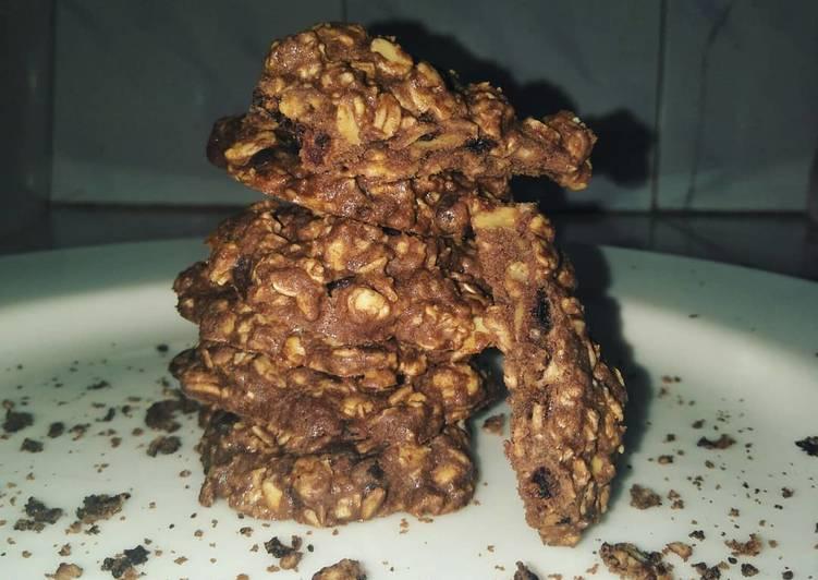 Chocolate Cinamon Oat Cookies