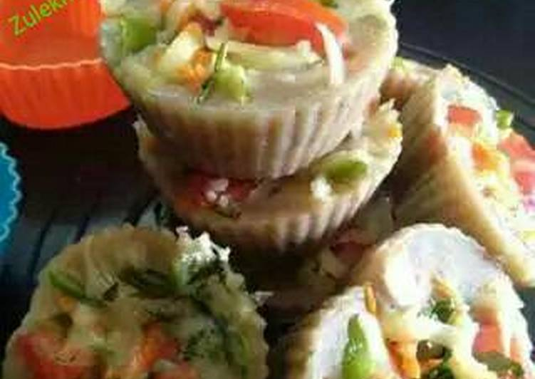 Step-by-Step Guide to Make Most Popular Brown bread Veggie idli cup cake