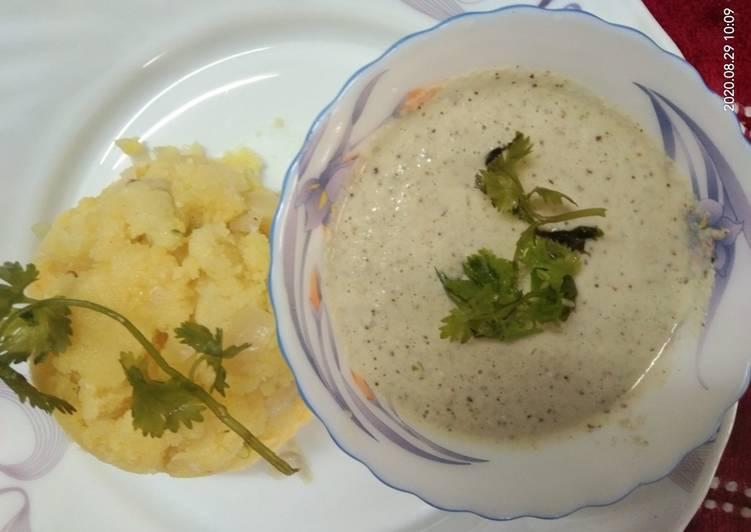 10 Minute Simple Way to Make Favorite Coconut Chutney With Suji Upma