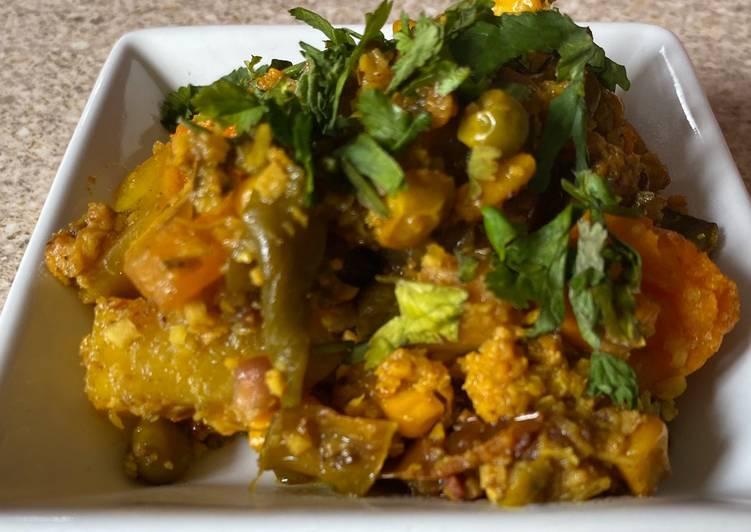 Kathiyavadu style healthy Undhiyu