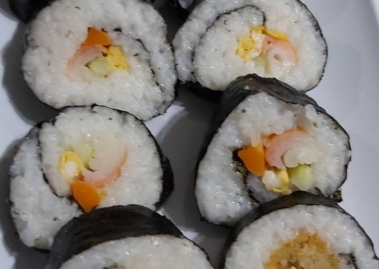 Sushi sederhana bekal sekolah