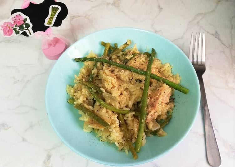 Risotto De Espárragos Trigueros Con Parmesano Vegano Receta