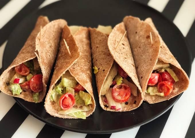 Soft veggie taco