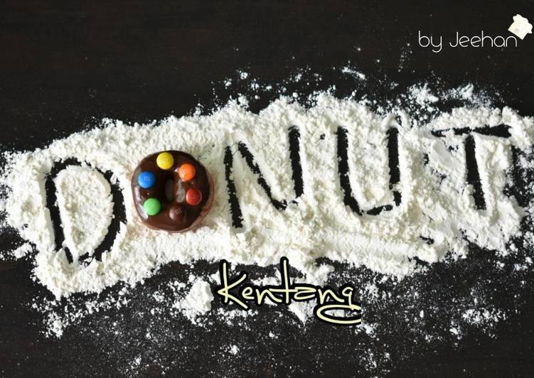 Resepi:  Donut Kentang Coklat M&M  2021