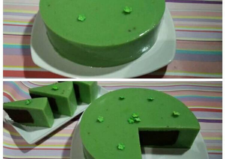 resep Pudding cake pandan