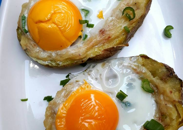 Baked,Potato Egg,