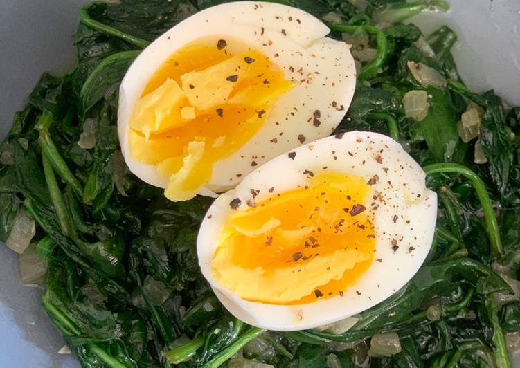 Lazy Spinach & Eggs
