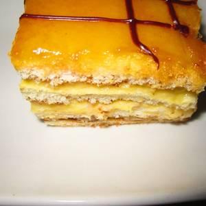 Pastelitos de crema pastelera y crema de caramelo?