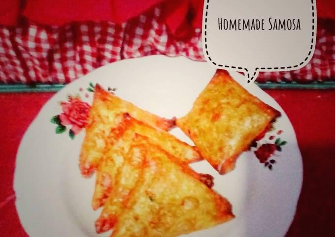Homemade Noodle-Meat Samosa