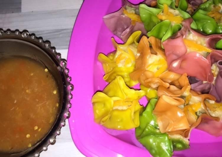 Dimsum Udang Ayam Pelangi with Sauce Yummy