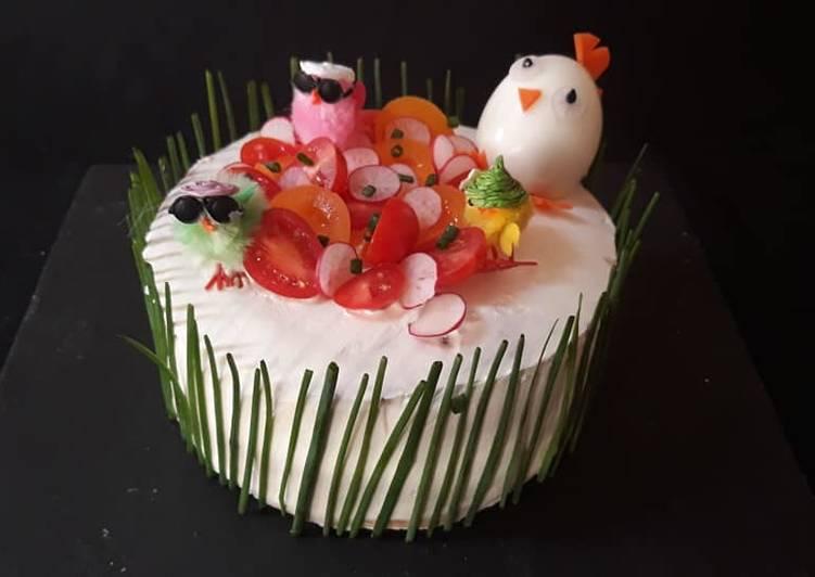 Sandwich cake''théme paques''