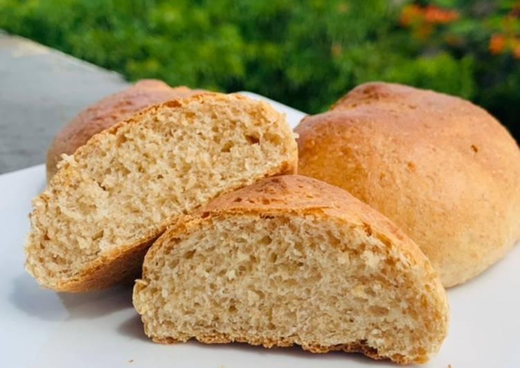 Roti gandum ga keras Tanpa butter, Tanpa telur, Tepung segitiga. healthy Wheat bun metode Tangzhong