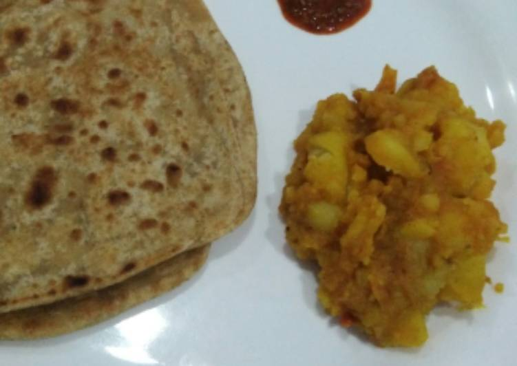 Salt paratha with Aloo Sabzi