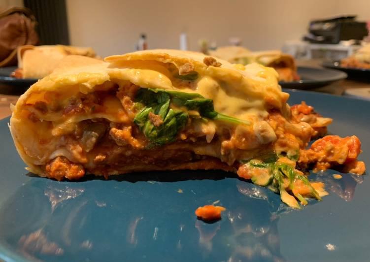 Recipe: Yummy Giant stuffed vegan tortillas