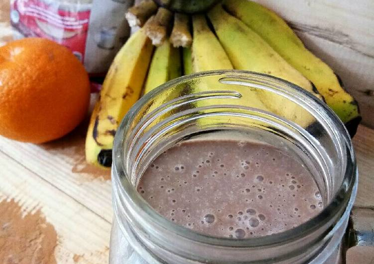 Oat chocolate almond smoothie #Maree