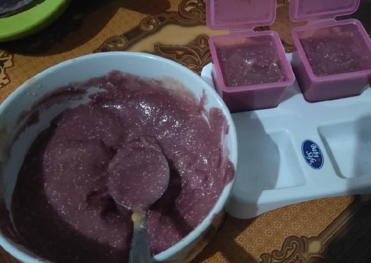 Cara mudah membuat Mpasi 6m | Ubi ungu, pisang, pepaya,keju