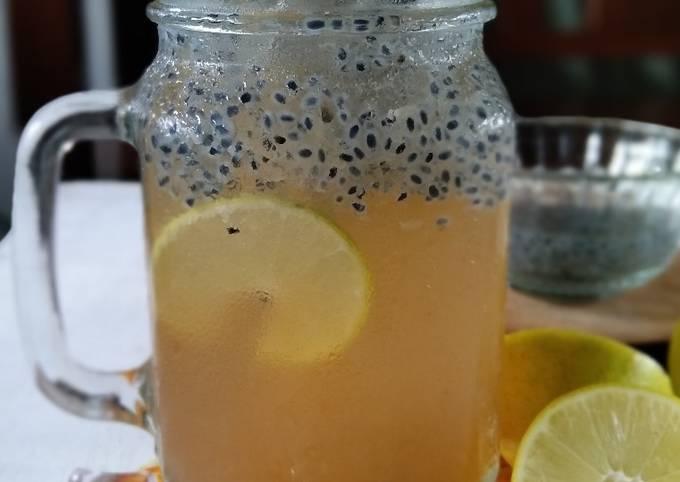 Minuman lemon segar