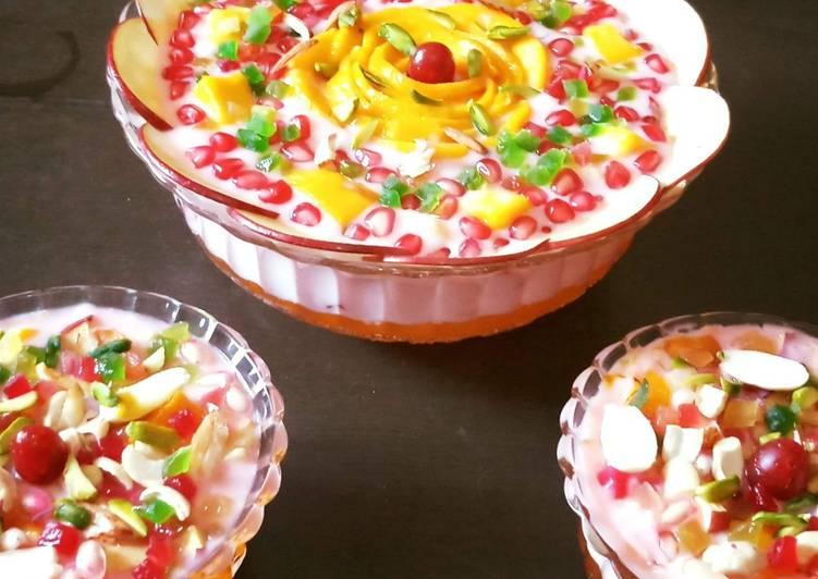 Old Fashioned Dinner Easy Any Night Of The Week Fruit Custard With Jelly