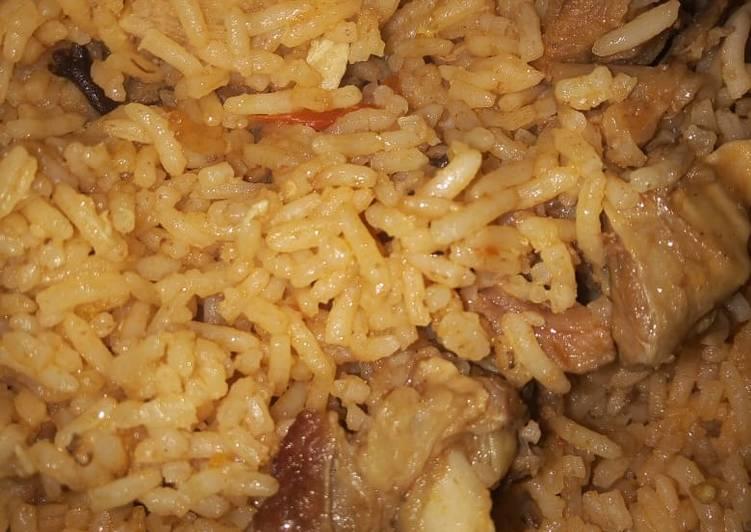 Beef pilau with kachumbari