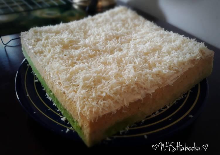 resep mengolah Bolu Lapis Pandan Keju Kukus (double cheese) - Sajian Dapur Bunda