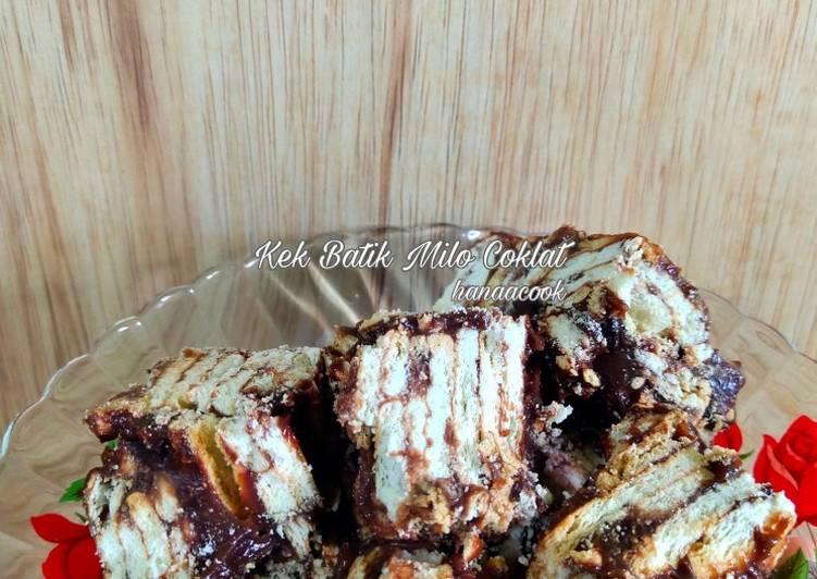 Resepi:  Kek Batik Milo Coklat  Terbaru